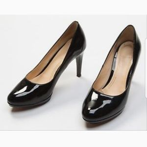 COLE HAAN/NIKE AIR Plane Toe Patent Pumps